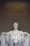 USA, Washington Dc, Lincoln Memorial, Statue of Abraham Lincoln Valokuvavedos tekijänä Walter Bibikow