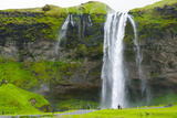 Iceland. South. Seljalandsfoss Waterfall Photographic Print by Inger Hogstrom