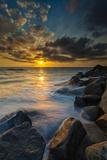 Hidden Stairs to the Beach in Carlsbad, Ca Fotografie-Druck von Andrew Shoemaker
