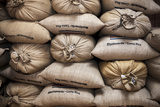 Coffee Bags. Monteverde. Costa Rica. Central America Photographic Print by Tom Norring