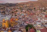 Mexico, Guanajuato. Panoramic Overview of City Fotografie-Druck von Jaynes Gallery
