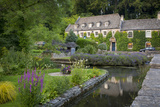River Coln and Swan Hotel, Cotswolds, Bibury, Gloucestershire, England Photographic Print by Brian Jannsen