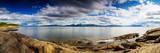 Panoramic Long Exposure Shot of A Norwegian Fjord Fotografisk trykk av  Lamarinx