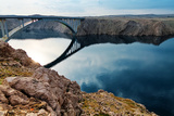Bridge to the Pag Island, Croatia Fotografisk trykk av  Lamarinx
