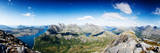 Panoramic Shot from A Peak in Northern Norway Photographic Print by  Lamarinx