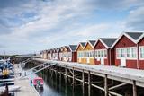 Houses for Boat Servicing in Northern Norway Fotografisk trykk av  Lamarinx