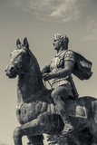 Greece, Central Macedonia, Pella, Statue of Alexander the Great Fotografisk tryk af Walter Bibikow