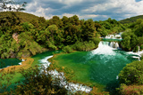 Panorama of Waterfalls in Krka National Park, Croatia Fotografisk trykk av  Lamarinx