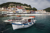 Greece, Epirus, Parga, Town View from the Harbor Fotografisk tryk af Walter Bibikow