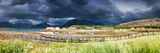 Panoramic Shot of the Village Tarnvika in Northern Norway during Lowtide Fotografisk trykk av  Lamarinx