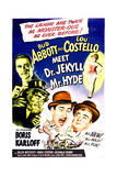 Abbott and Costello Meet Dr. Jekyll and Mr. Hyde - Movie Poster Reproduction Kunstdrucke