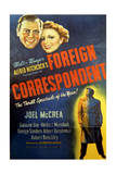 Foreign Correspondent - Movie Poster Reproduction 高品質プリント