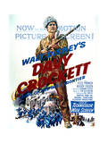 Davy Crockett: King of the Wild Frontier - Movie Poster Reproduction Kunst