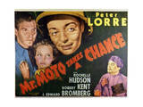 Mr. Moto Takes a Chance - Lobby Card Reproduction Láminas