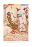 Jesus and the Blind Man Giclee Print by Arthur A. Dixon