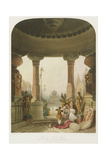 Portico of a Hindoo Temple Giclee Print by Captain Robert M. Grindlay