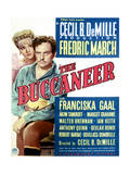 The Buccaneer - Movie Poster Reproduction Giclée-Premiumdruck