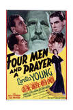 Four Men and a Prayer - Movie Poster Reproduction Kunstdruck