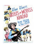 Artists and Models Abroad - Movie Poster Reproduction Poster