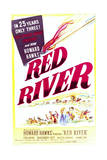 Red River - Movie Poster Reproduction Art
