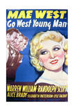 Go West Young Man - Movie Poster Reproduction Plakater