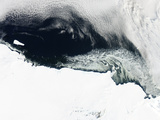 Sea Ice and Icebergs Floating Along the Mawson Coast of East Antarctica Fotografie-Druck