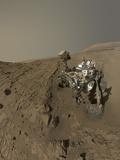 Nasa's Curiosity Mars Rover on Planet Mars Lámina fotográfica