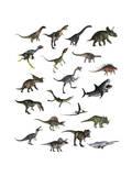 Set of Dinosaurs Giclée-Premiumdruck