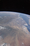 Oblique Photo of Ethiopia and Part of the Red Sea as Viewed from Space Fotografisk tryk