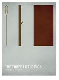 Tree Little Pigs Poster van Christian Jackson