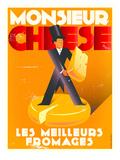 Monsieur Cheese Kunstdruck von Diego Patino