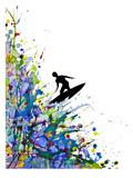 A Pollock's Point Break Kunst van Marc Allante