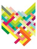 Spring Interlaced Color Lines Láminas por Patricia Pino