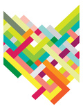 Spring Interlaced Color Lines Posters tekijänä Patricia Pino
