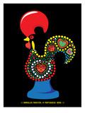 Portuguese Rooster Black Stampe di Patricia Pino