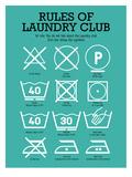 Laundry Club Teal Posters van Patricia Pino