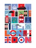 Londres Affiches par  Visual Philosophy
