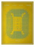 Basketball Court Blueprint Prints