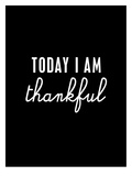 Today I Am Thankful Poster di Brett Wilson