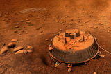 Huygens Probe on Titan Space Poster Print Poster