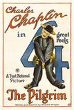 The Pilgrim Movie Charlie Chaplin Poster Print Foto