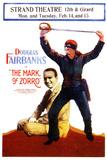 The Mark of Zorro Movie Douglas Fairbanks Noah Beery Poster Print Prints