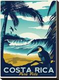 Costa Rica Bedruckte aufgespannte Leinwand von Matthew Schnepf