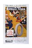Advert, Pirelli Tyres Giclée-Druck