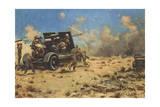 Artillery at Tobruk Giclée-tryk