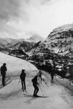 Skiing in Switzerland Fotoprint