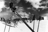 Ski Poles. Gloves. Skis Photographic Print