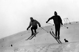 Athletic Skiers Photographic Print