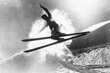 Jumping Skier 1930S Fotografie-Druck