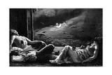 Vampire Bats Attack Sleepers Lámina giclée